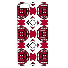 Seamless Abstract Pattern With Red Elements Background Apple Iphone 5 Hardshell Case With Stand