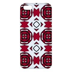 Seamless Abstract Pattern With Red Elements Background Apple Iphone 5 Premium Hardshell Case