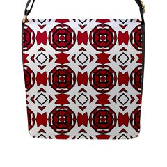 Seamless Abstract Pattern With Red Elements Background Flap Messenger Bag (L)