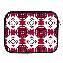 Seamless Abstract Pattern With Red Elements Background Apple iPad 2/3/4 Zipper Cases