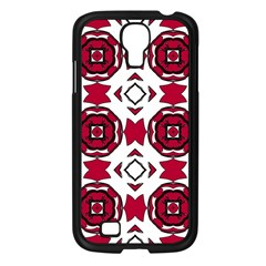 Seamless Abstract Pattern With Red Elements Background Samsung Galaxy S4 I9500/ I9505 Case (black)