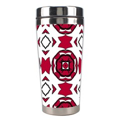 Seamless Abstract Pattern With Red Elements Background Stainless Steel Travel Tumblers