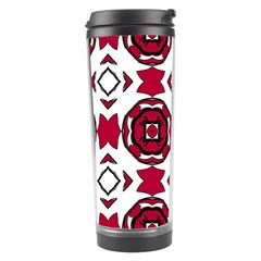 Seamless Abstract Pattern With Red Elements Background Travel Tumbler