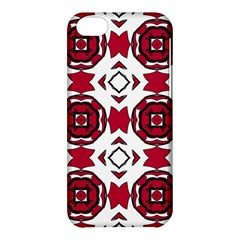 Seamless Abstract Pattern With Red Elements Background Apple iPhone 5C Hardshell Case