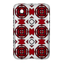Seamless Abstract Pattern With Red Elements Background Samsung Galaxy Tab 2 (7 ) P3100 Hardshell Case