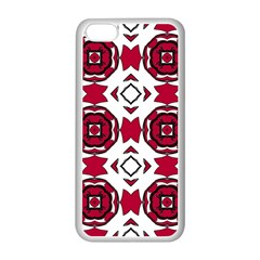 Seamless Abstract Pattern With Red Elements Background Apple iPhone 5C Seamless Case (White)