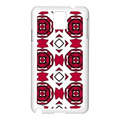 Seamless Abstract Pattern With Red Elements Background Samsung Galaxy Note 3 N9005 Case (White)