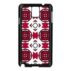 Seamless Abstract Pattern With Red Elements Background Samsung Galaxy Note 3 N9005 Case (Black)