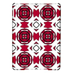 Seamless Abstract Pattern With Red Elements Background iPad Air Hardshell Cases