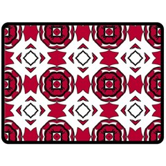 Seamless Abstract Pattern With Red Elements Background Double Sided Fleece Blanket (large)
