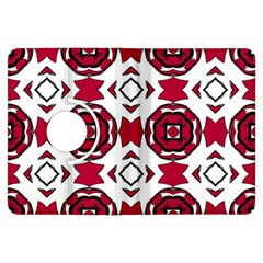 Seamless Abstract Pattern With Red Elements Background Kindle Fire Hdx Flip 360 Case