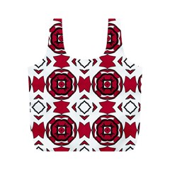 Seamless Abstract Pattern With Red Elements Background Full Print Recycle Bags (M)
