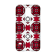 Seamless Abstract Pattern With Red Elements Background Samsung Galaxy S5 Hardshell Case