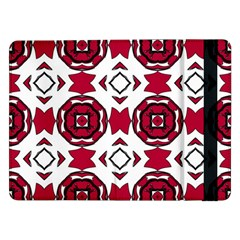 Seamless Abstract Pattern With Red Elements Background Samsung Galaxy Tab Pro 12.2  Flip Case