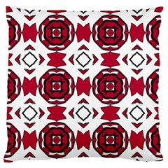 Seamless Abstract Pattern With Red Elements Background Large Flano Cushion Case (One Side)