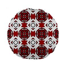 Seamless Abstract Pattern With Red Elements Background Standard 15  Premium Flano Round Cushions