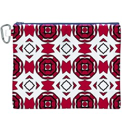 Seamless Abstract Pattern With Red Elements Background Canvas Cosmetic Bag (xxxl)