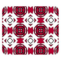 Seamless Abstract Pattern With Red Elements Background Double Sided Flano Blanket (Small)