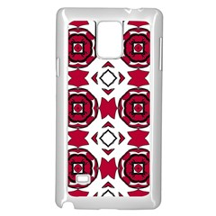 Seamless Abstract Pattern With Red Elements Background Samsung Galaxy Note 4 Case (white)
