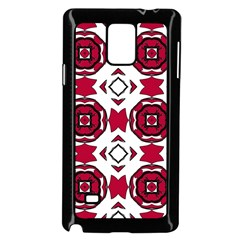 Seamless Abstract Pattern With Red Elements Background Samsung Galaxy Note 4 Case (black)