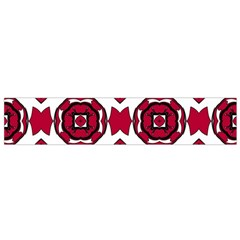 Seamless Abstract Pattern With Red Elements Background Flano Scarf (small)