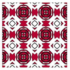 Seamless Abstract Pattern With Red Elements Background Large Satin Scarf (Square)