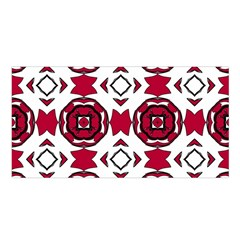 Seamless Abstract Pattern With Red Elements Background Satin Shawl