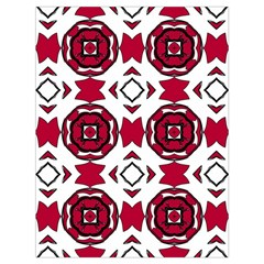 Seamless Abstract Pattern With Red Elements Background Drawstring Bag (large)