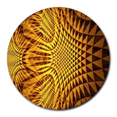 Patterned Wallpapers Round Mousepads