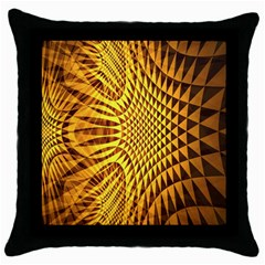 Patterned Wallpapers Throw Pillow Case (Black)