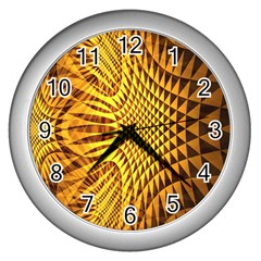 Patterned Wallpapers Wall Clocks (silver)