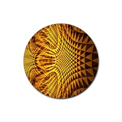 Patterned Wallpapers Rubber Round Coaster (4 Pack)