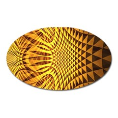Patterned Wallpapers Oval Magnet
