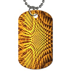 Patterned Wallpapers Dog Tag (one Side)