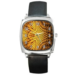 Patterned Wallpapers Square Metal Watch