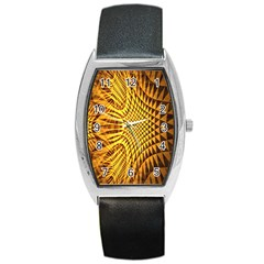 Patterned Wallpapers Barrel Style Metal Watch
