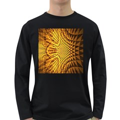 Patterned Wallpapers Long Sleeve Dark T-Shirts