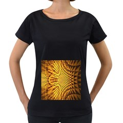 Patterned Wallpapers Women s Loose-Fit T-Shirt (Black)