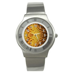 Patterned Wallpapers Stainless Steel Watch