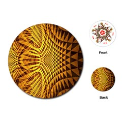 Patterned Wallpapers Playing Cards (Round)