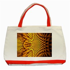 Patterned Wallpapers Classic Tote Bag (red)