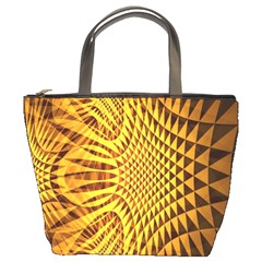 Patterned Wallpapers Bucket Bags