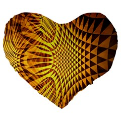 Patterned Wallpapers Large 19  Premium Flano Heart Shape Cushions