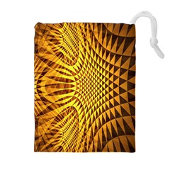 Patterned Wallpapers Drawstring Pouches (extra Large)