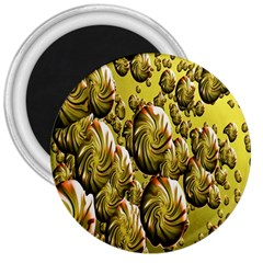 Melting Gold Drops Brighten Version Abstract Pattern Revised Edition 3  Magnets