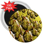 Melting Gold Drops Brighten Version Abstract Pattern Revised Edition 3  Magnets (100 pack) Front