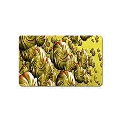 Melting Gold Drops Brighten Version Abstract Pattern Revised Edition Magnet (name Card)