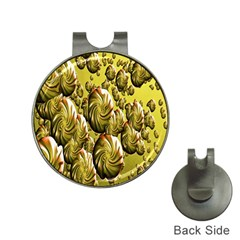Melting Gold Drops Brighten Version Abstract Pattern Revised Edition Hat Clips with Golf Markers