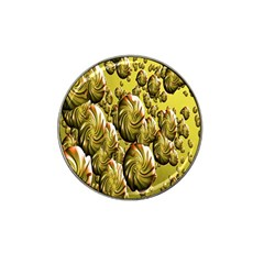 Melting Gold Drops Brighten Version Abstract Pattern Revised Edition Hat Clip Ball Marker (10 pack)