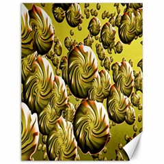 Melting Gold Drops Brighten Version Abstract Pattern Revised Edition Canvas 12  x 16